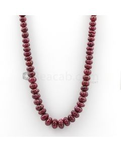 8 mm to 13 mm - Dark Red Carved Ruby - 1 Line - 463.54 carats (RCarB1022)