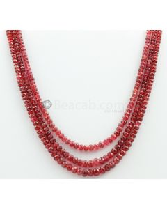 3.00 to 5.50 mm - Medium Purple-Red Spinel Faceted Beads - 3 Lines - 191.65 carats - SPNFB1007