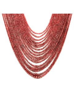 2.50 to 9.50 mm - Medium Purple-Red Spinel Faceted Beads - 17 Lines - 1412.50 carats - SPNFB1010