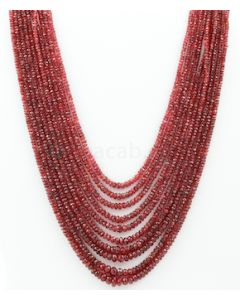 2.50 to 6.50 mm - Medium Purple-Red Spinel Faceted Beads - 10 Lines - 496.55 carats - SPNFB1011