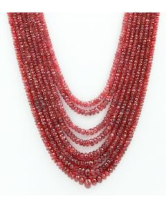 2.50 to 9.00 mm - Medium Purple-Red Spinel Faceted Beads - 8 Lines - 574.65 carats - SPNFB1012