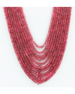 2.50 to 8.00 mm - Medium Purple-Red Spinel Faceted Beads - 10 Lines - 493.00 carats - SPNFB1014