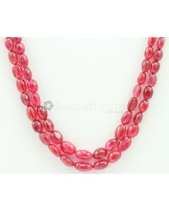 5.00 to 10.00 mm - Medium Purple-Red Spinel Tumbled Beads - 2 Lines - 176.05 carats - SPNTUB1002
