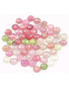 5.50 to 5.80 mm - Medium Tones Multi-Sapphire Round Rose Cuts - 60 Pieces - 59.5 carats - MSRC1049
