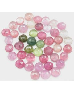 6.30 to 6.70 mm - Medium Tones Multi-Sapphire Round Rose Cut - 44 Pieces - 67.00 carats - MSRC1052
