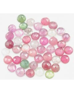 6.00 mm - Medium Tones Multi-Sapphire Round Rose Cut - 46 Pieces - 53.00 carats - MSRC1054