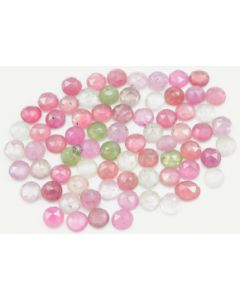 5.50 to 6.70 mm - Medium Tones Multi-Sapphire Round Rose Cut - 72 Pieces - 64.00 carats - MSRC1055