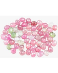 6.00 x 5.00 to 7.20 x 5.50 mm - Medium Tones Multi-Sapphire Oval Rose Cuts - 60 Pieces - 70.50 carats - MSRC1067