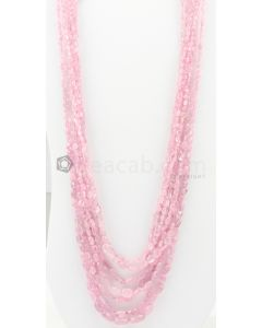 7 Lines - 3.50 x 4 mm to 9.50 x 14 mm Light Pink Color Pink Sapphire Tumbled Gemstone Beads - 848 carats (PnSTuB1027)