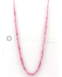 1 Lines - 4 x 5.50 mm to 6.50 x 8.50 mm Light Pink Color Pink Sapphire Tumbled Gemstone Beads - 86.3 carats (PnSTuB1047)