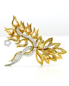 18kt Yellow Gold, Platinum and Diamond Lady's Pin, C.1960, Retailed by Harry Winston  - 26.2 grams - EST1210