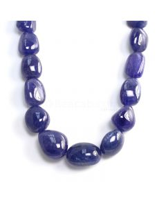 1 Line - Medium Violet Tanzanite Tumbled Beads - 1166.20 cts - 20.4 x 16.8 mm to 29 x 22 mm (TZTUB1085)
