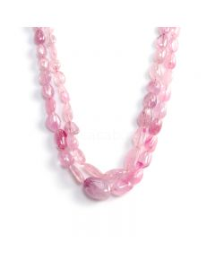2 Lines - Light Pink Pink Sapphire Tumbled Beads - 450 cts - 8.3 x 5.5 mm to 18.7 x 13.5 mm (PNSTUB1057)