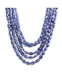 5 Lines - Medium Blue Sapphire Tumbled Beads - 477.10 cts - 5.7 x 4.7 mm to 9.9 x 7.9 mm (STUB1013)