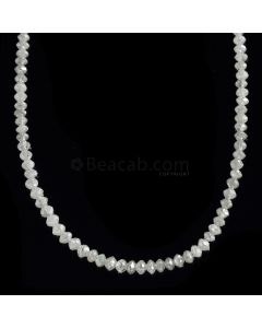 1 Line - White Diamond Faceted Beads - 16.69 cts. - 1.6 to 2.6 mm (WDIA1057)