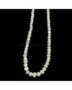 1 Line - White Diamond Faceted Beads - 31.58 cts. - 2 to 5 mm (WDIA1051)