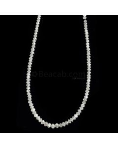 1 Line - White Diamond Faceted Beads - 19.80 cts. - 1.9 to 3.3 mm (WDIA1054)
