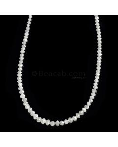 1 Line - White Diamond Faceted Beads - 17.64 cts. - 1.7 to 3.2 mm (WDIA1055)
