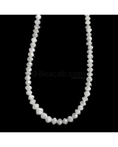 1 Line - White Diamond Faceted Beads - 21.30 cts. - 1.6 to 3.5 mm (WDIA1052)