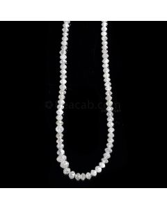 1 Line - White Diamond Faceted Beads - 29.05 cts. - 2.6 to 4 mm (WDIA1058)