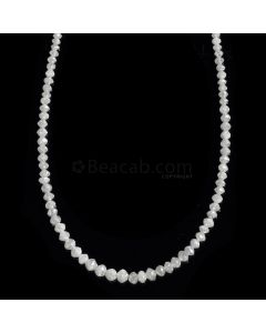 1 Line - White Diamond Faceted Beads - 17.47 cts. - 1.6 to 3.2 mm (WDIA1059)