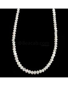 1 Line - White Diamond Faceted Beads - 21.72 cts. - 2 to 3.4 mm (WDIA1053)