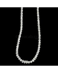 1 Line - White Diamond Faceted Beads - 29.86 cts. - 2.2 to 3.9 mm (WDIA1060)