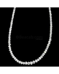 1 Line - White Diamond Faceted Beads - 17.90 cts. - 1.7 to 3 mm (WDIA1061)