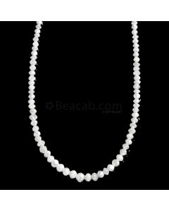 1 Line - White Diamond Faceted Beads - 17.30 cts. - 1.5 to 3.4 mm (WDIA1063)