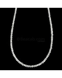 1 Line - White Diamond Faceted Beads - 16.48 cts. - 1.8 to 2.6 mm (WDIA1064)
