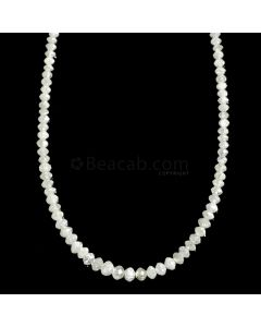 1 Line - White Diamond Faceted Beads - 18.29 cts. - 1.7 to 3.2 mm (WDIA1065)