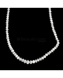 1 Line - White Diamond Faceted Beads - 18.36 cts. - 1.8 to 3.9 mm (WDIA1066)