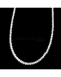 1 Line - White Diamond Faceted Beads - 16.95 cts. - 1.8 to 3 mm (WDIA1067)