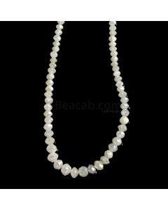 1 Line - White Diamond Faceted Beads - 30.71 cts. - 2.2 to 4.6 mm (WDIA1069)