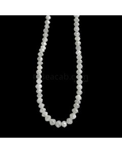 1 Line - White Diamond Faceted Beads - 42.60 cts. - 3.2 to 4.2 mm (WDIA1070)