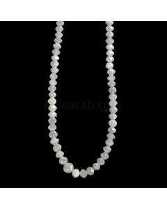 1 Line - White Diamond Faceted Beads - 49.83 cts. - 3 to 4 mm (WDIA1072)
