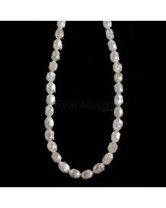1 Line - Gray Diamond Drum Beads - 45.99 cts. - 4.5 x 3 mm to 5.5 x 4 mm (FNCYDIADR1047)