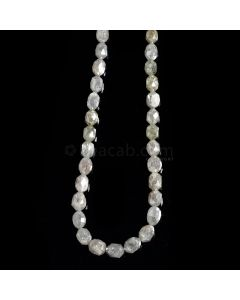 1 Line - Gray Diamond Drum Beads - 44.5 cts. - 4 x 3.5 mm to 5 x 4.5 mm (FNCYDIADR1049)