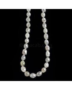 1 Line - Gray Diamond Drum Beads - 63.50 cts. - 4.5 x 4 mm to 6 x 5 mm (FNCYDIADR1050)