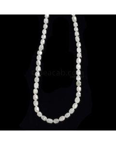 1 Line - Gray Diamond Drum Beads - 36.82 cts. - 4 x 2.7 mm to 4.5 x 4 mm (FNCYDIADR1048)