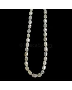 1 Line - Gray Diamond Drum Beads - 39.50 cts. - 3 x 2.5 mm to 5.3 x 3.5 mm (FNCYDIADR1051)