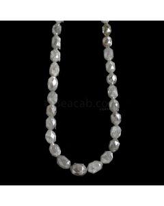 1 Line - Gray Diamond Drum Beads - 69.72 cts. - 5 x 3.5 mm to 7 x 5.5 mm (FNCYDIADR1053)