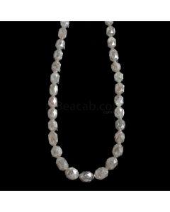 1 Line - Gray Diamond Drum Beads - 66.50 cts. - 4.5 x 3 mm to 7.5 x 5.5 mm (FNCYDIADR1054)