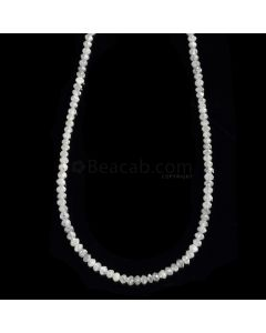 1 Line - Gray Diamond Faceted Beads - 13.34 cts. - 1.8 to 2.3 mm (WDIA1080)
