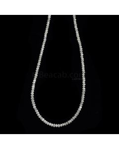 1 Line - Gray Diamond Faceted Beads - 13.34 cts. - 1.6 to 2.3 mm (WDIA1084)