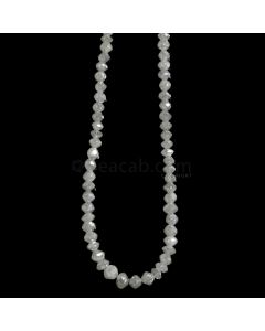 1 Line - Gray Diamond Faceted Beads - 33.92 cts. - 3 to 4.5 mm (WDIA1089)