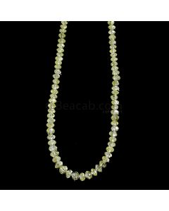 1 Line - Yellow Diamond Faceted Beads - 34.45 cts. - 2.7 to 4.10 mm (YDIA1043)