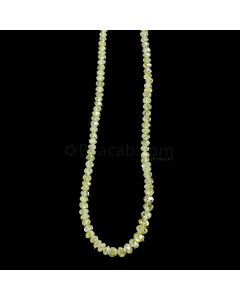 1 Line - Yellow Diamond Faceted Beads - 31.51 cts. - 2.5 to 4 mm (YDIA1044)