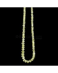 1 Line - Yellow Diamond Faceted Beads - 25.31 cts. - 3 to 4 mm (YDIA1045)