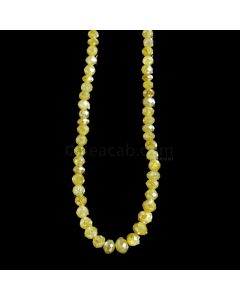 1 Line - Yellow Diamond Faceted Beads - 35.55 cts. - 3 to 5 mm (YDIA1046)